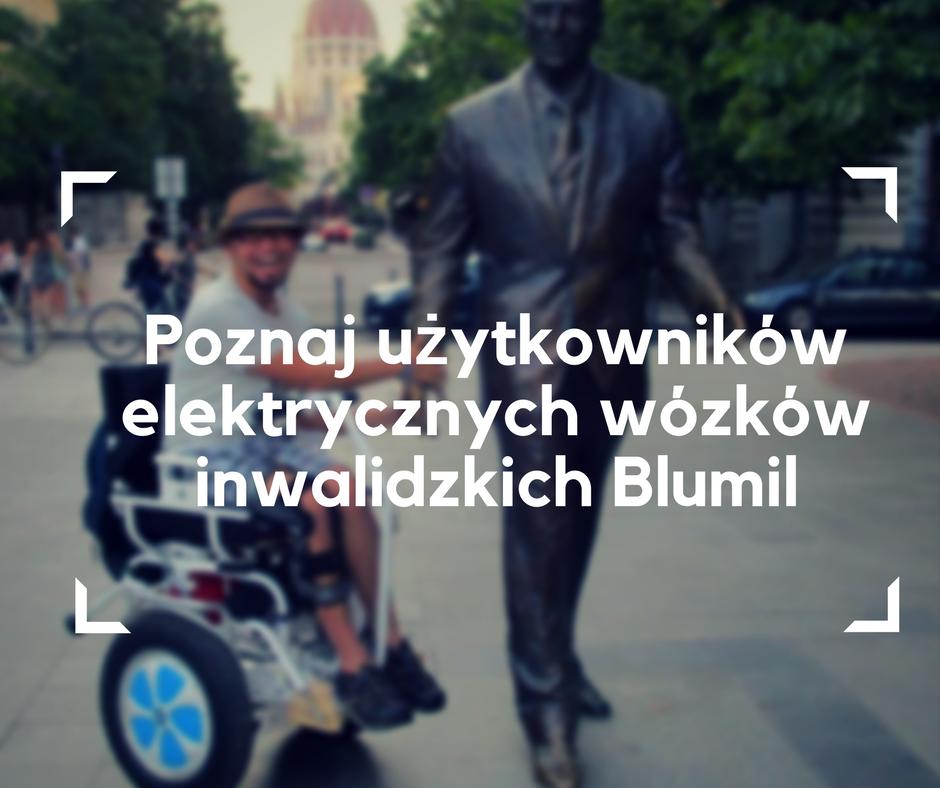 elektryczny wózek, turystyka bez granic, użytkownicy wózków elektrycznych Blumil